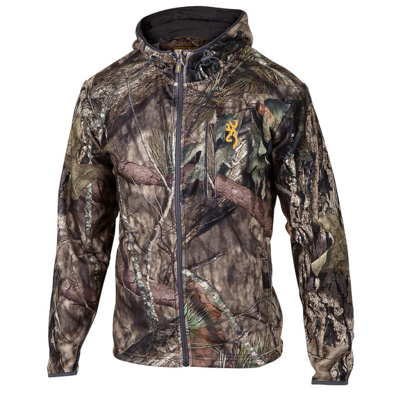 Men's Wasatch Fleece Camo Full-Zip Hooded Jacket