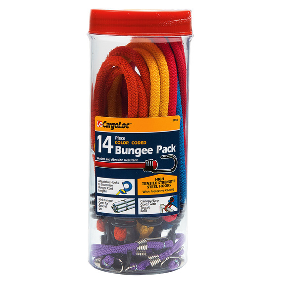 14-Piece Color Coded Bungee Pack  - view 1