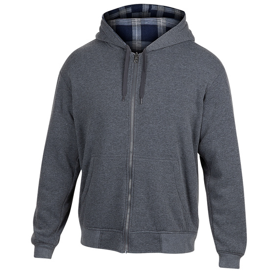 Men's Reversible Fleece Full-Zip Hoodie