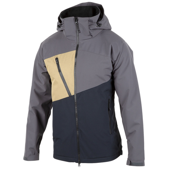 Men's Waterproof Breathable Colorblock Snow Jacket