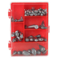 EAGLE CLAW Fishing Sinker Assortment - 103 Piece Count