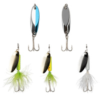 8 to 5 Fishing Spoon Spinner 1/4oz. 5-Piece Lure Kit