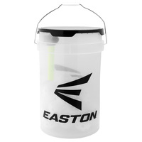 Easton Ball Bucket with 30 Plastic Training Balls and Collapsible Batting Tee
