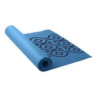 Lotus Printed 3mm Yoga Mat - Blue Combo