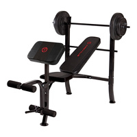 Marcy Club Bench with 80-lb. Barbell Weight Set