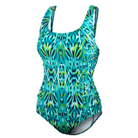 Speedo Women's Ikat Princess Shirred One-Piece Swimsuit