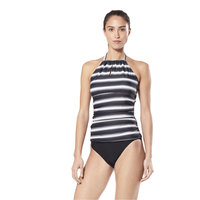 Speedo Women's Shirred Side Two-Piece Tankini