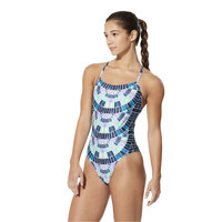 Speedo Women's Mosaic Maze Relay Back Performance Swimsuit