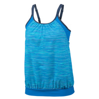 Free Country Women's Space Dye Blouson Tankini Top