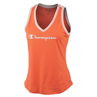 Champion Women's Heritage V-Neck Ringer Tank Top