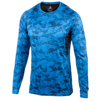 Russell Athletic Men's Disruptive Camo Long-Sleeve Crew
