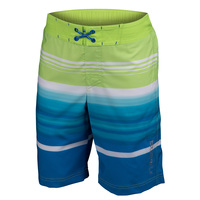 Free Country Boys' Cowabunga Surf Stripe E-Boardshorts