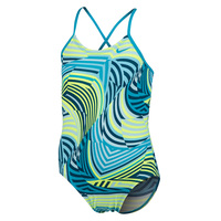 Nike Girls' Whirl Printed X-Back One-Piece Swimsuit