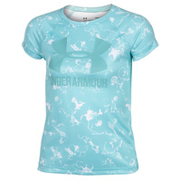 Under Armour Girls' Big Logo Novelty Short-Sleeve Tee