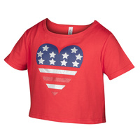 TEC-ONE Girls' Fourth of July Cutie Crop Tee