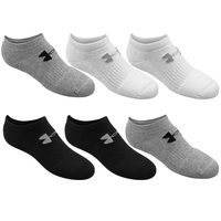 Under Armour Youth's Charged Cotton No-Show Socks - 6-Pack