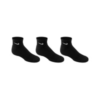 Nike Youth's Performance Cushioned Quarter Training Socks - 3-Pack