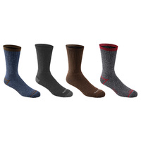 Dickies Men's All-Season Thermal Crew Socks - 4-Pack