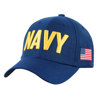 Icon Sports U.S. Military Cap with American Flag Side Patch