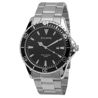 Eclipse Men's Stainless-Steel Dress Watch