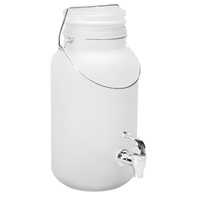 Fine Life 1-Gallon Frosted Glass Beverage Dispenser