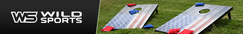 wild sports - a american flag designed corn hole toss outdoor game on the grass